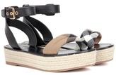 Burberry Parkeston leather espadrille sandals
