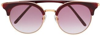 Matsuda Round Frame Double Bridge Sunglasses