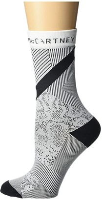 adidas by Stella McCartney Digital Print Crew Socks FJ2499 (Black) Women's Crew Cut Socks Shoes