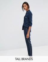 Vero Moda Tall Piped Pajama Style Pants