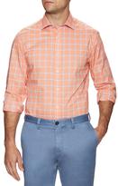 James Tattersall Printed Spread Collar Dress Shirt