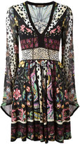 Roberto Cavalli floral print flared dress - women - Silk/Viscose - 40