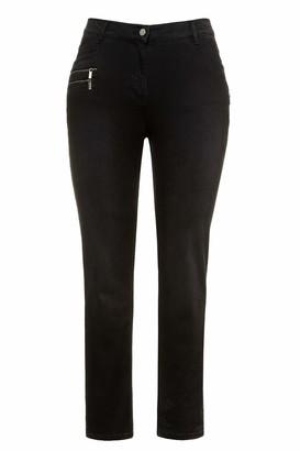 Ulla Popken Women's Jeans Sarah High-Waist 4-Pocket schmale Passform Trouser
