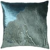 Sea Fan on Indigo Velvet Pillow