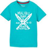 Lucky Brand Teal Malibu Tee - Boys