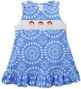 Blue Santa Face Smocked Jumper - Infant, Toddler & Girls