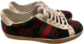 Gucci Ace Green Cloth Trainers