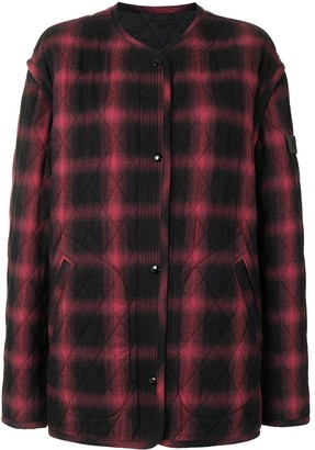No.21 Checked Quilted Jacket