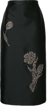 Erdem Sequin Applique Pencil Skirt