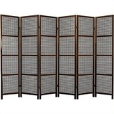 Oriental Furniture Asian Decor 6-Feet Miyagi Japanese Screen Room Divider with Lattice Design