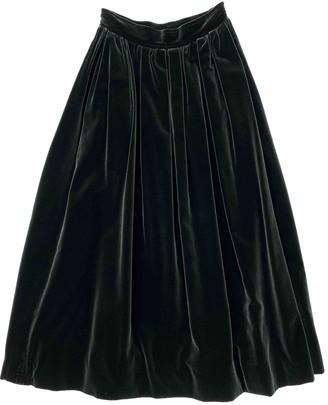Saint Laurent Green Velvet Skirts