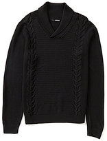 Murano Manhattan Collection Textured Cable Knit Shawl Sweater