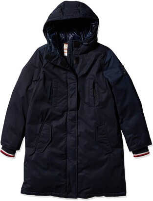 Tommy Hilfiger Women's Adaptive Parka Jacket with Faux Fur Hood and Magnetic Zipper