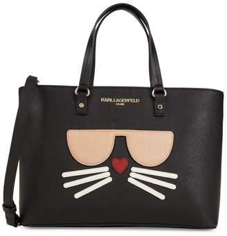 Karl Lagerfeld Paris Cat Applique Tote
