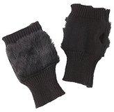 Charlotte Russe Faux Fur-Trim Fingerless Gloves