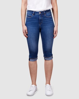 Jeanswest Women's Blue Skinny - Mid Waist Pedal Pusher Bright Indigo - Size One Size, 16 at The Iconic