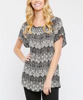 Black & White Geometric Tunic
