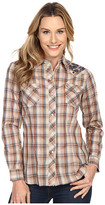 Roper 300 Navy Brown Plaid with Embroidery