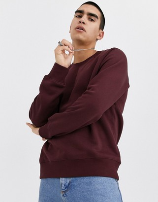 Weekday Paris sweatshirt in burgundy