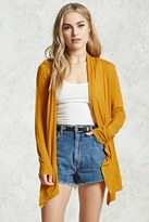 Forever 21 FOREVER 21+ Draped Open-Front Cardigan