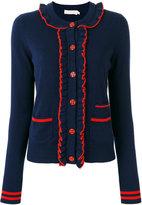Tory Burch ruffled cardigan - women - Cashmere - S