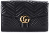 Gucci GG Marmont leather clutch