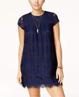 Speechless Juniors' Lace Shift Dress
