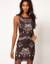Lipsy Chain Print Body-Conscious Dress