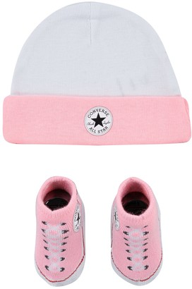 Converse Baby Girl Pink 2-Piece Signature Chuck Patch Beanie and Chuck Booties Set