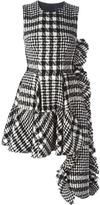 Simone Rocha checked asymmetric flared dress