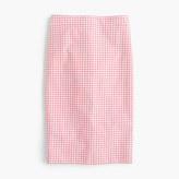 J.Crew Tall No. 2 pencil skirt in gingham bi-stretch cotton