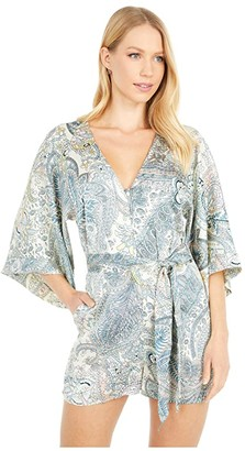 Bishop + Young Kimono Sleeve Romper (Boheme Paisley) Women's Jumpsuit & Rompers One Piece