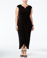 Connected Plus Size Tulip-Hem Gown