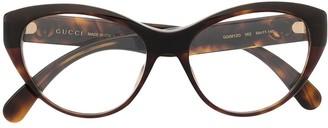 Gucci GG logo cat-eye glasses