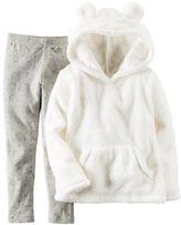Carter's Toddler Girl Sherpa Velboa Hoodie & Leggings Set