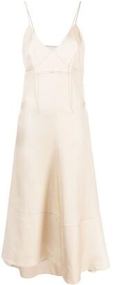 Jil Sander Contrast-Stitching Midi Dress