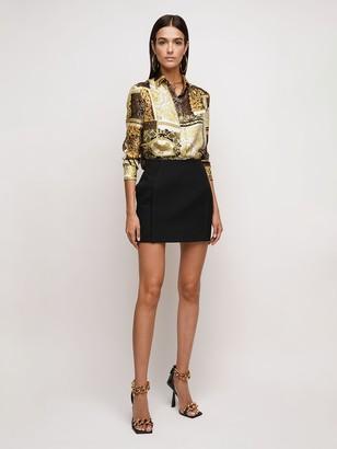 Versace Techno Granite Mini Skirt