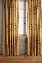 Anthropologie Embroidered Tura Curtain