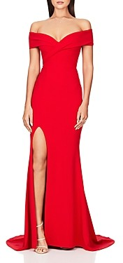 Nookie Neptune Off-the-Shoulder Gown