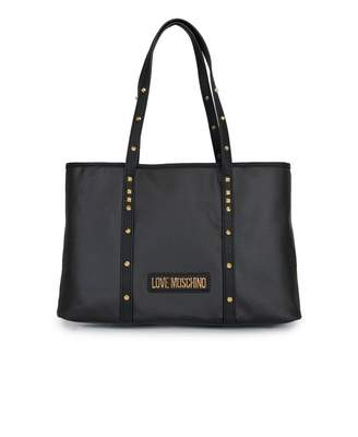 Love Moschino Accessories Stud Detail Shopper Bag Colour: BLACK, Size: