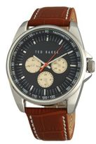 Ted Baker Brown Leather Strap Tachometer Watch