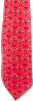 Hermes Giraffe Print Silk Tie