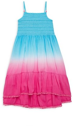 Design History Little Girl's Shirred High-Low Dress