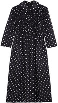 Comme des Garcons Ruffled Polka-dot Poplin Dress - Navy
