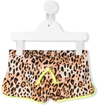 Mc2 Saint Barth Kids Coco leopard-print beach shorts