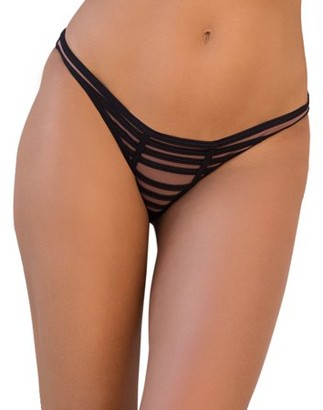 Joan Smalls X Smart & Sexy Womens Super-Strappy Ruched Teeny Swim Bottoms
