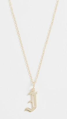 Jennifer Zeuner Jewelry Emmanuelle Initial Necklace