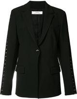 Versace mesh insert blazer - women - Viscose/Polyester/Cotton/Spandex/Elastane - 40