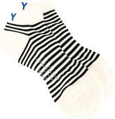 Yohji Yamamoto striped sport socks - men - Cotton/Acrylic/Nylon - One Size