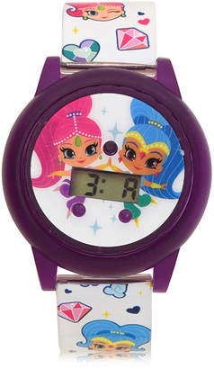 SHIMMER AND SHINE Shimmer And Shine Girls Digital White Strap Watch-Sns4074jc